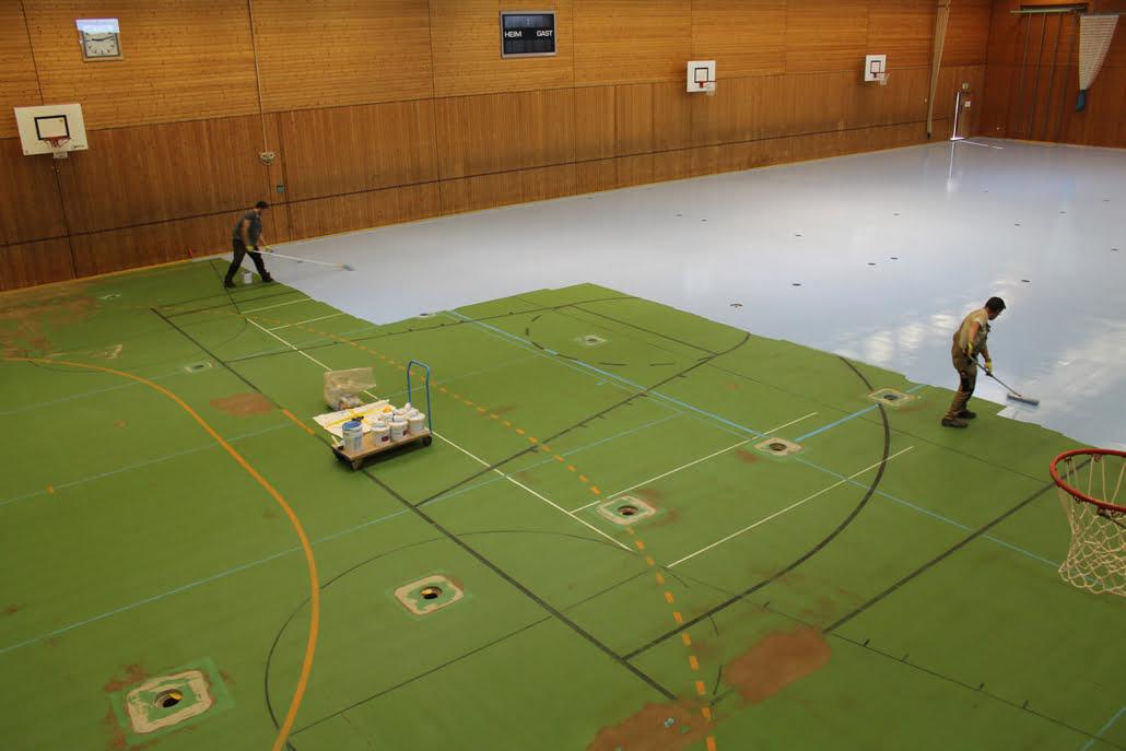PU Sportboden in einer Sporthalle in Sulz