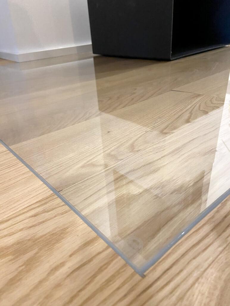 Diele Eiche Classic geölt verlegt unter Glas